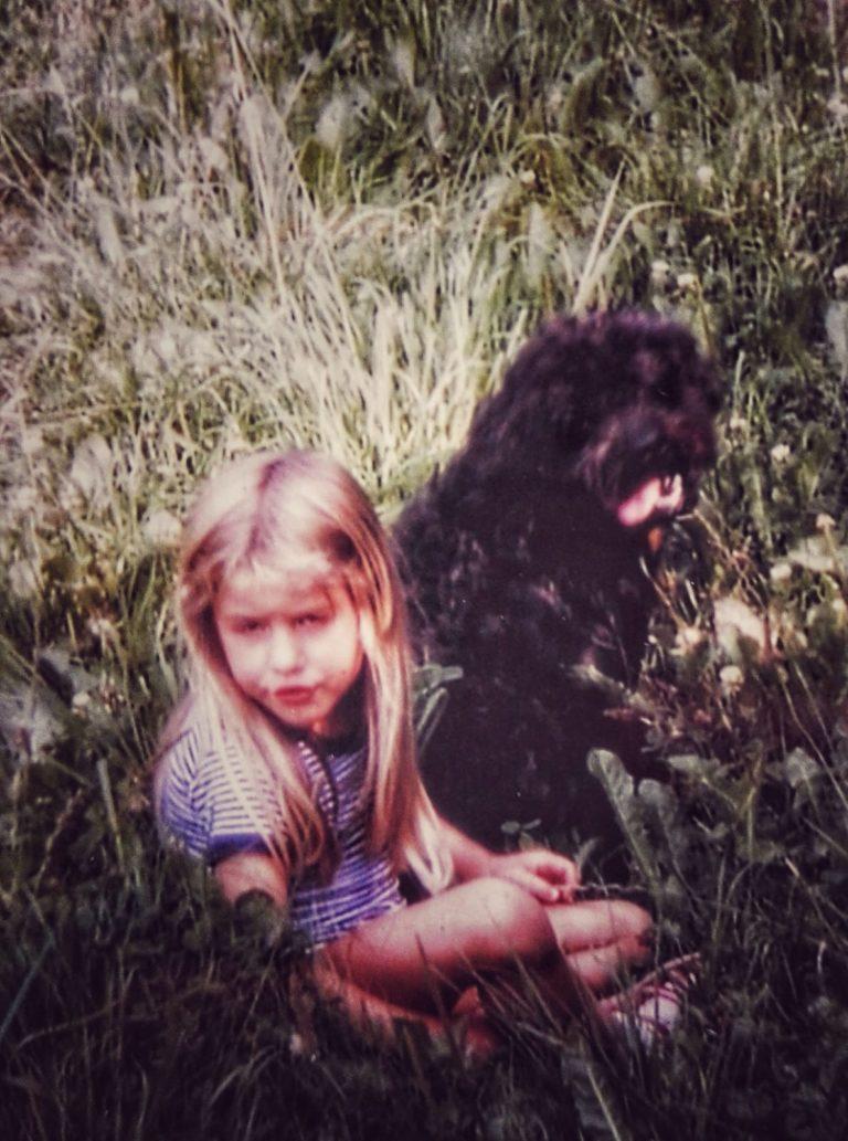 Steffi Böhner von Harmonic Dogs mit ihrem ersten Hund